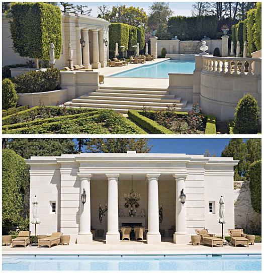 Самые дорогие дома. Бассейн, стилизованный под старину.